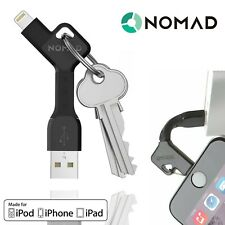 Nomad Apple Lightning Keychain Portable Charging Cable Fast Charge Rugged Black