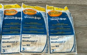 9 Hoover Type W2 Windtunnel Allergy Vacuum Bags Bagged Upright Vacuum Cleaner b