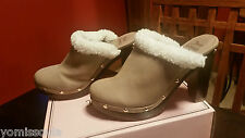 """Juicy Couture Clogs - Taupe size 9; 3 1/2"""" heels"""