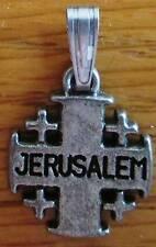 Catholic Crusader metal Cross of Jerusalem from Holy Land .5 inch