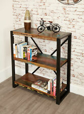 Urban Chic Furniture Reclaimed Wood Low Bookcase Steel Frame