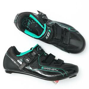 Louis Garneau Cristal Black Green Women's Cycling Shoes - Size 11 US (42 EU)