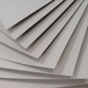 Grey board 2mm 2000micron & Gold & Silver 1200micro Backing Board  Extra Thick