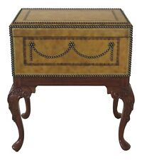 L48293EC: MAITLAND SMITH Leather Top Flip Open Box Table