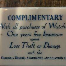 Vintage antique Watch repair  dealer sign Rolex,Omega,Cartier,SIGN WORKSHOP b10