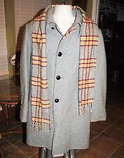 Zero King VINTAGE men's coat, circa 1966, All Wool Tote Coat plus matching scarf