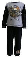 Pyjamas gris pour garçon de 2 à 16 ans en 100% coton
