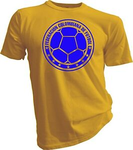 Seleccion Colombia Camiseta T Shirt Football Soccer Cafeteros Mundial Sports