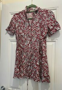 Urban Renewal at Urban Outfitters Mini Floral Tea Dress Red S UK 8 BNWOT NEW