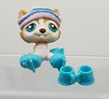 Littlest Pet Shop Husky Dog Golden White 386 Around The World Original Accessory