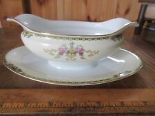 Noritake China Alford Made in Japan Gravy Sauce Dish Attached Saucer Plate