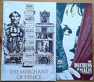 Individual Royal Shakespeare Company RSC Theatre programmes 1980s Stratford-u-A