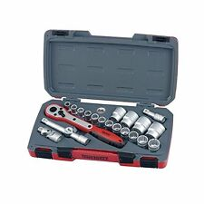Teng Tools T1221 1/2 Square Drive 21 Piece Metric Socket Set Tent1221