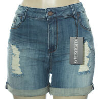 Plus Size Women Shorts Denim Skinny Ripped Hot Pant Beach Trouser Jeans 1X 2X 3X
