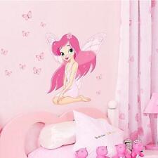 Decal Vinyl Art Mural Wall Sticker Decor Fairy Princess Butterly For Kids Room Q