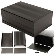 Black Aluminum Box Circuit Board Enclosure Case Project Electronic 150*105*55MM