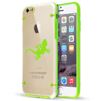 For Apple iPhone SE 5s 6 6s 7 8 Plus Slim Clear TPU Hard Case Cover Gecko Lizard