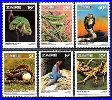 ZAIRE 1987 REPTILES MNH SNAKES, LIZARDS, ANIMALS = DON'T WATCH - BUY !!!!!!!!!