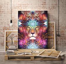 Genesis - Lion Visionary Art (Psychedelic, Fractal, Huachuma, Ayahuasca) LIMITED