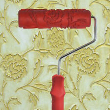 Empaistic Flower Pattern Painting Roller with Plastic Handle Wall Decor Tool