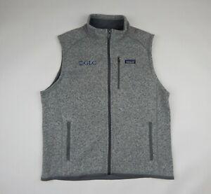Patagonia Better Sweater Fleece Vest Grey Stonewash Men's XL Corporate Logo