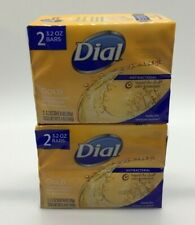 Dial Gold Antibacterial Bar Soap 2 Pack 3.2 oz Total 4 Bars