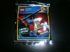 POLYBAG LEGO CITY: POMPIER + HELICOPTERE Limited Edition Foil Pack 951905 Neuf