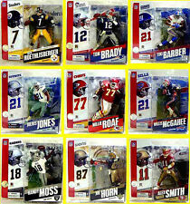 McFarlane Sports NFL Football Series 11 Figure Set of 9 Action Figures Tom Brady