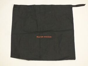 Walter Steiger Black Drawstring Dust Bag Storage Protect Shoes Handbag 39x36 cm