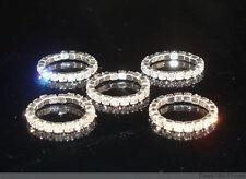 Lots 12Pcs 1Row Clear Crystal Rhinestone Toe Rings