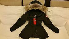 "BRAND NEW ""RED LABEL"" EDITION LADIES BLACK CANADA GOOSE VICTORIA S PARKA JACKET"