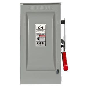 Siemens HF361NR 30A 3-Pole 600V 4-Wire Fused Heavy Duty Safety Switch