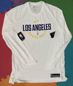lakers team issued XL New Authentic Jersey Shooting Shirt Lebron James warmup