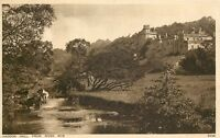 s07601 From River Wye, Haddon Hall, Derbyshire, England postcard unposted