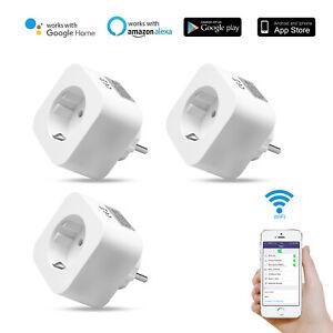 Smart Steckdose Android für Google Home Wifi Remote Schalter Stecker Timer 1-4X