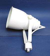 1pc White Track Light Lighting Head for [ H style 1 Way 3 Wire ] E27 Lamp Holder
