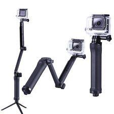 3 Way Bracket Monopod Selfie Stick Camera Tripod Mount For GoPro Hero 4 3+ 3 2