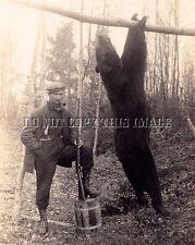 ANTIQUE REPRO 8X10 PHOTO HOUGHTON LAKE MICHIGAN BEAR HUNTING SAVAGE MODEL 99
