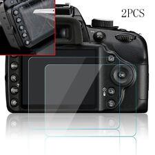2x 9H Hard Tempered Glass Screen Protector Film Fit Nikon D3200 D3300 D3400 SLR
