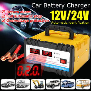 12V/24V Car Motorcycle Battery Charger Intelligent Pulse Repair Type Charger K