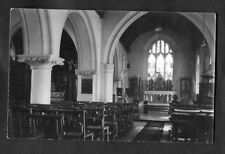C1930s View: Interior of a UK Church: Seats & Altar. Location Unknown.