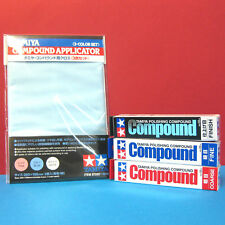 Tamiya Polishing Compound (Coarse, Fine, Finish) + Compound Applicator set