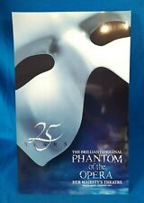 More details for original phantom of the opera 25 years west end theatre poster dewynters 2000s