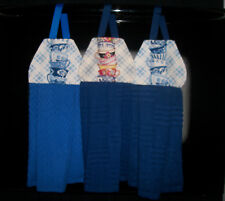 Stacked Tea Cups Delft Flowers Stripes Cherries Hanging Kitchen Hand Dishtowel
