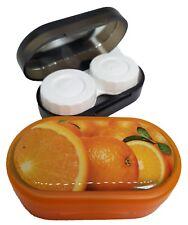 Funky Fruit Mirror Case Contact Lens Soaking Storage Case UK MADE - Orange