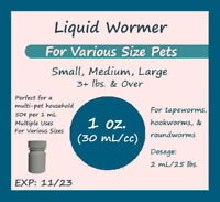 Pro Care  Cat Dog Dewormer Liquid Multiple xed Uses For Any Size Pet