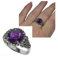 Bague en argent massif 925 Améthyste violet T 56 bijou