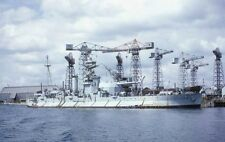 ROYAL NAVY MONITOR HMS ROBERTS AT DEVONPORT IN AUGUST 1965