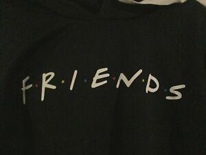 FRIENDS TV Series Black Cropped Hoodie Black M