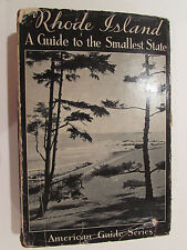 Rhode Island - A Guide To The Smallest State - 1937, Vintage Hardcover Book